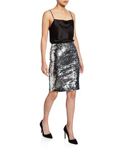 Alice + Olivia Skirt silver with tag