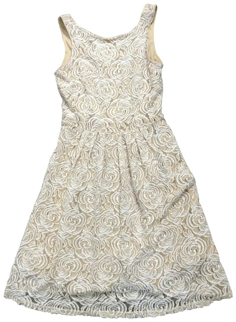 Item - Ivory Lace A Line Short Casual Dress Size 4 (S)