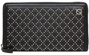 Gucci Gucci diamante zip around wallet