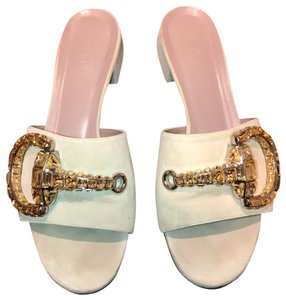 Gucci beige and gold Sandals