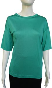 Ted Lapidus Silk Tee Shirt Mint Mint T Shirt Top turquoise green