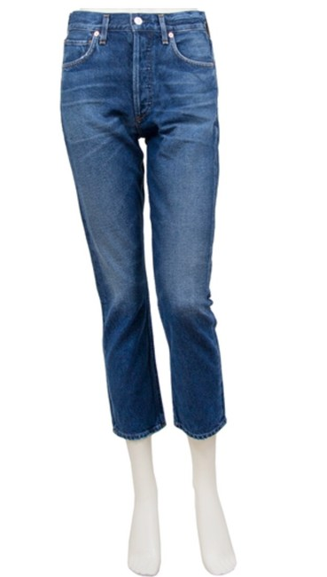"Item - ""wish"" - Medium Blue Wash Charlotte Crop Straight Leg Jeans Size 0 (XS, 25)"