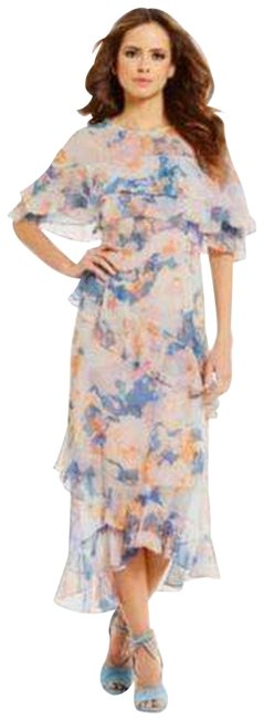 Item - Floral Tiered Ruffle Retail N Casual Maxi Dress Size 6 (S)