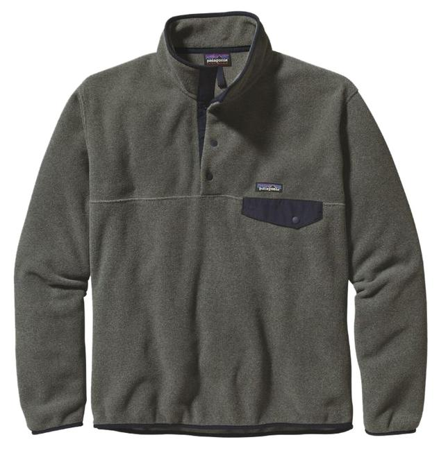 Item - Grey Lightweight Synchilla® Snap-t Fleece Pullover Small Activewear Size 6 (S)