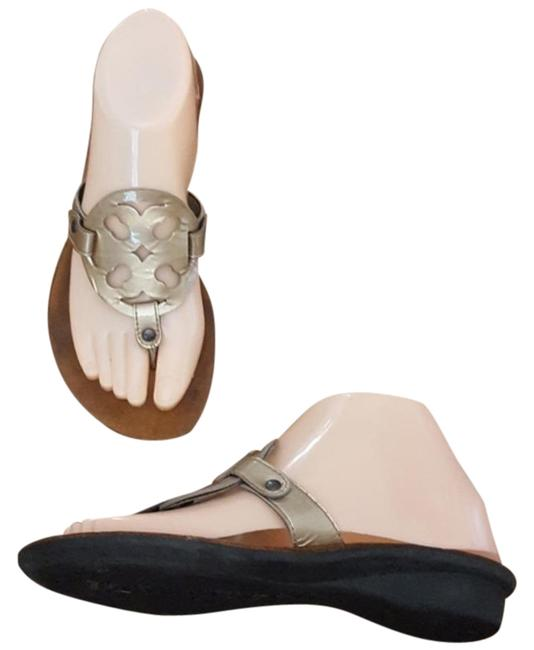 Paul Green Gold Slip On Sandals Size US 7.5 Regular (M, B) Paul Green Gold Slip On Sandals Size US 7.5 Regular (M, B) Image 1
