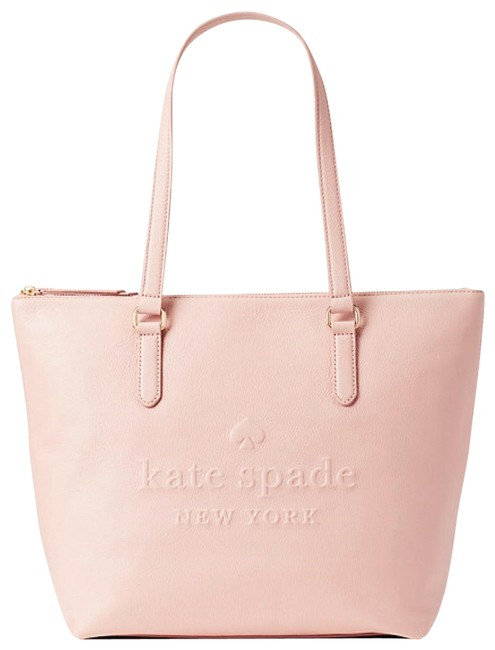 Item - Larchmont Avenue Logo Penny Large Tote Pink Leather Weekend/Travel Bag