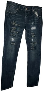 Almost Famous Clothing Distressed Holey Skinny Jeans-Distressed