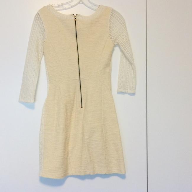 Bordeaux Ivory Xsmall Mid-length Formal Dress Size 2 (XS) Bordeaux Ivory Xsmall Mid-length Formal Dress Size 2 (XS) Image 3