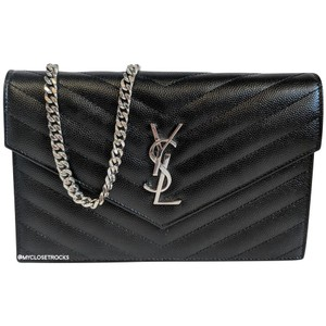Saint Laurent Woc Wallet On Chain Ysl Cross Body Bag
