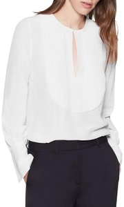 Equipment Silk Party Hollywood Date Night Night Out Top White