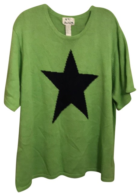 Item - Rn 95524 Green with Black Star Sweater