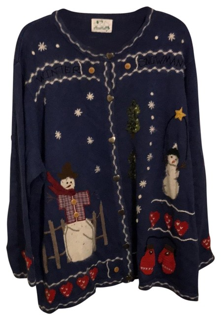 Item - Blue with Snowman Sweater