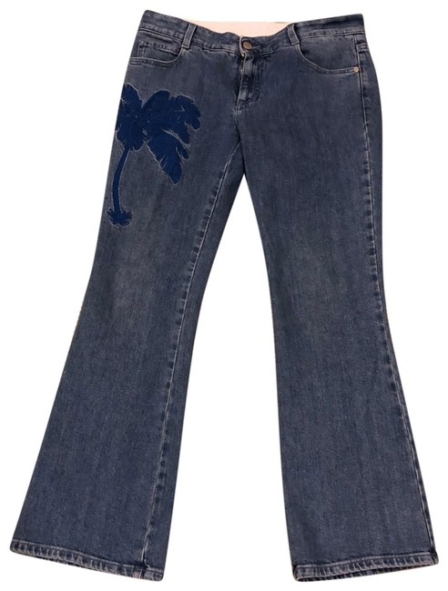 Item - Light Wash with Stunning Embroidy Flare Leg Jeans Size 8 (M, 29, 30)