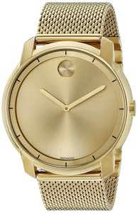 Movado Stainless Steel Mesh Strap Mens 3600373
