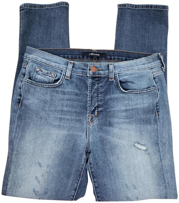 Item - Blue Distressed Caitland Button Fly Revolution Skinny Jeans Size 29 (6, M)