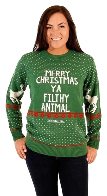 Ugly Christmas Sweater Vintage Filthy Animal Small Green Sweater Ugly Christmas Sweater Vintage Filthy Animal Small Green Sweater Image 1