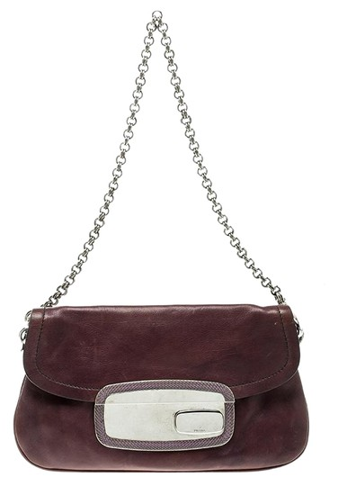 Prada Leather Chain Shoulder Bag Image 0