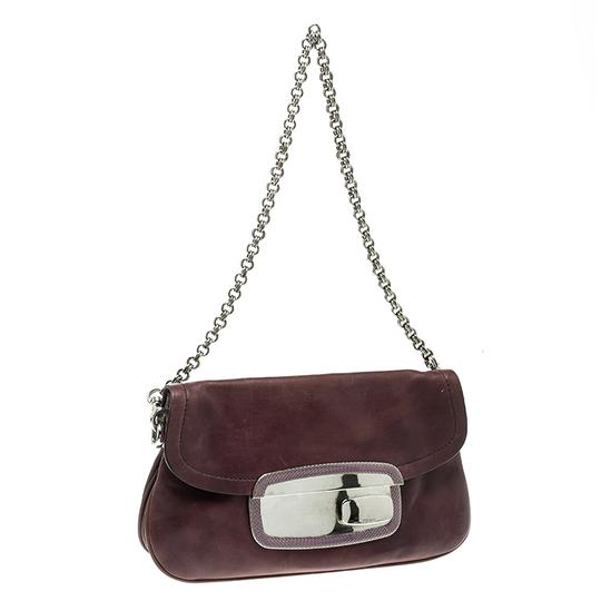 Prada Leather Chain Shoulder Bag Image 3