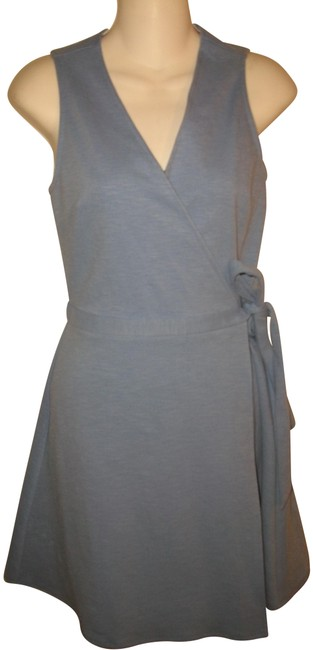 Item - Light Blue Sleeveless Wrap Short Casual Dress Size 2 (XS)