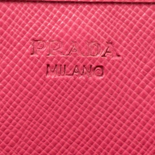 Prada Prada Pink Saffiano Metal Leather Wallet on Chain Image 6