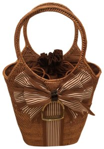Bosom Buddy Bags Satchel in brown and cream