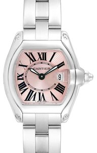 Cartier Cartier Roadster Pink Dial Small Model Steel Ladies Watch W62017V3