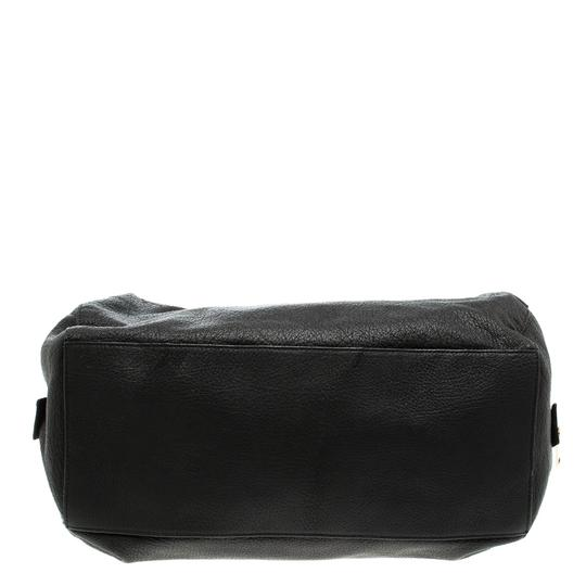 Céline Leather Fabric Satchel in Black Image 3