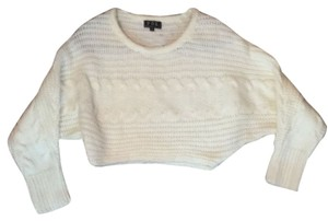 Pollini Cropped Nasty Gal Scoop Neck Cable Knit Sweater
