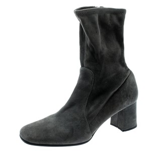 Prada Suede Ankle Grey Boots