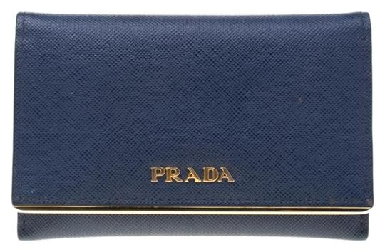 Preload https://img-static.tradesy.com/item/26420701/prada-blue-saffiano-leather-flap-wallet-0-2-540-540.jpg
