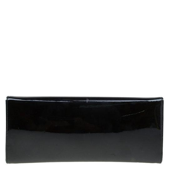 Gucci Leather Studded Patent Leather Black Clutch Image 1