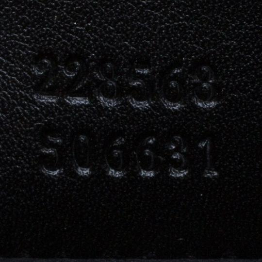 Gucci Leather Studded Patent Leather Black Clutch Image 6