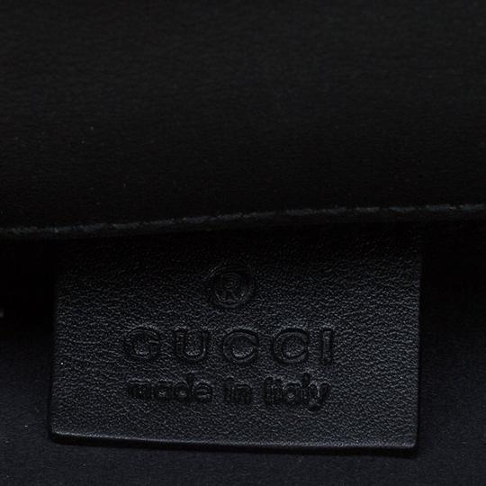 Gucci Leather Studded Patent Leather Black Clutch Image 7