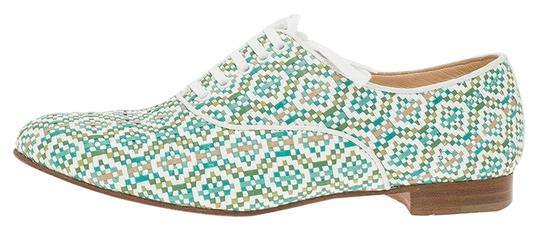 Preload https://img-static.tradesy.com/item/26420761/christian-louboutin-green-and-white-fred-woven-oxfords-flats-size-eu-38-approx-us-8-regular-m-b-0-2-540-540.jpg