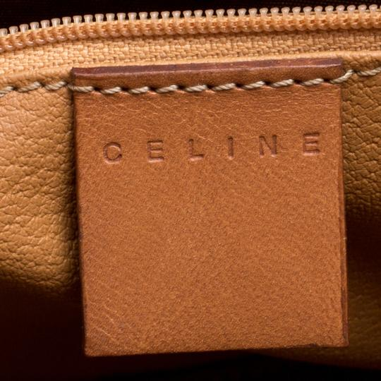 Céline Leather Canvas Tote in Beige Image 10