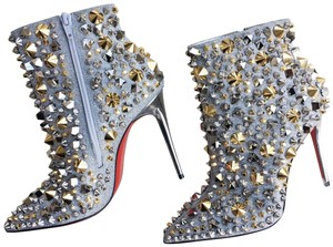 Christian Louboutin Silver with gold and silver studs Boots