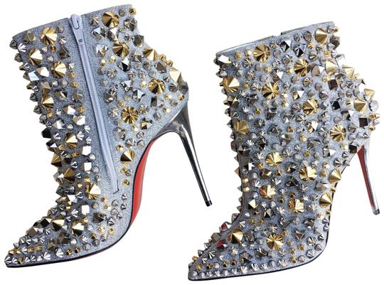 Preload https://img-static.tradesy.com/item/26420868/christian-louboutin-silver-with-gold-and-silver-studs-so-full-kate-100-embellished-glittered-leather-0-1-540-540.jpg