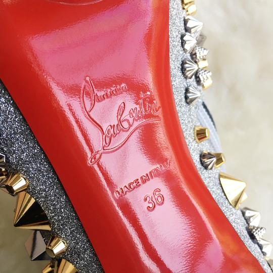 Christian Louboutin Silver with gold and silver studs Boots Image 5