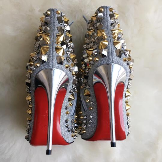 Christian Louboutin Silver with gold and silver studs Boots Image 6