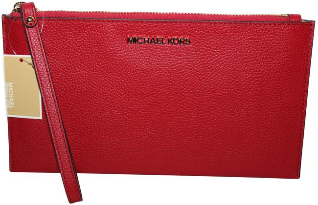 Item - Clutch Large Purse Red Leather Wristlet