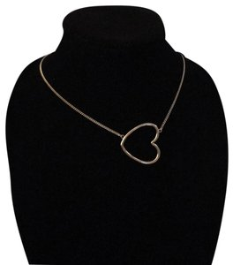 Hello Miss Large Gold Heart Necklace