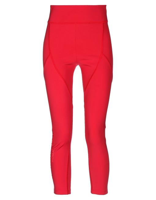 Fendi Monogram Gold Hardware Zucca Logo Paneled Red Leggings Image 1