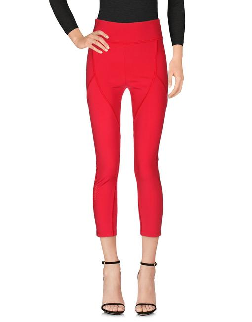 Fendi Monogram Gold Hardware Zucca Logo Paneled Red Leggings Image 3