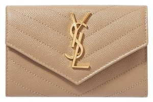 Saint Laurent Saint Laurent Monogram Loulou YSL Quilted Leather Small Wallet