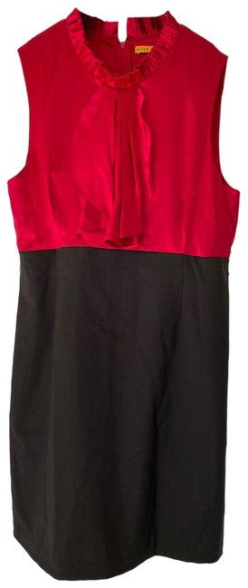 Item - Red/Brown Colorblock Short Cocktail Dress Size 8 (M)
