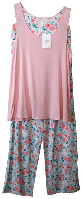 Item - Multicolor Floral Two Piece Sleepwear Set Size Small