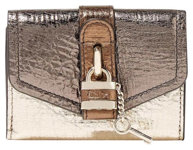 Item - Gold Bronze Brown - Small Aby Tri-fold Wallet