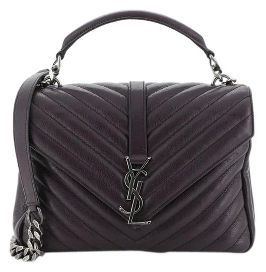 Preload https://img-static.tradesy.com/item/26422378/saint-laurent-monogram-college-classic-matelasse-chevron-medium-purple-leather-shoulder-bag-0-2-540-540.jpg