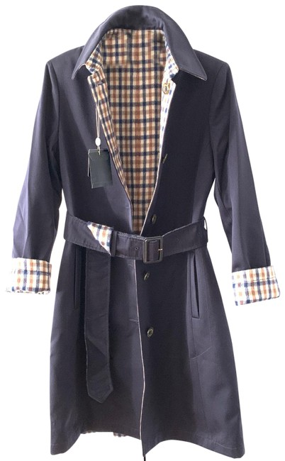 Item - Navy Reversible Belted Coat Size 2 (XS)