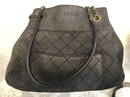 Chanel Italy Leather Distressed Quilted Shoulder Bag Image 1